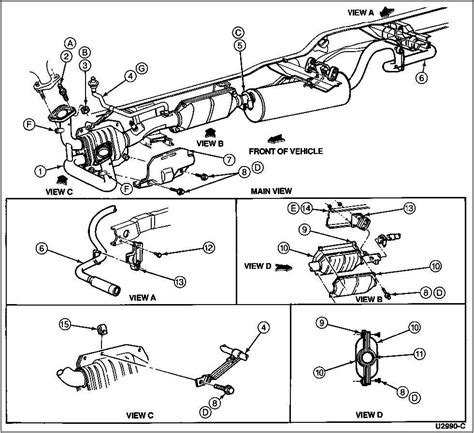ford f150 exhaust diagram 2013 ford f 150 catalytic converter diagram 2005 ford f150