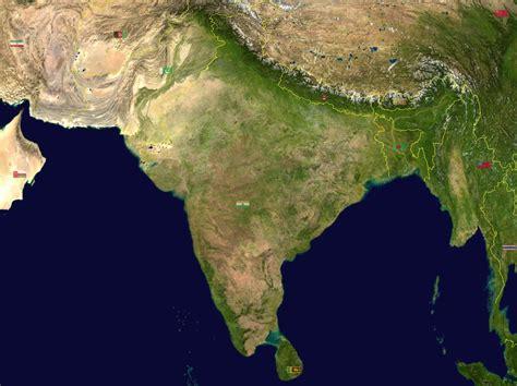 satellite maps map of india satellite map worldofmaps net