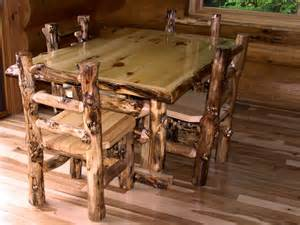 Log Dining Room Sets Aspen Log Dining Set Aspen Dining Table Minnesota Aspen Log Furniture