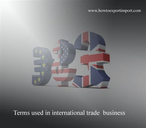 Letter Of Credit Used In International Trade Terms Used In International Trade Business Such As Sight