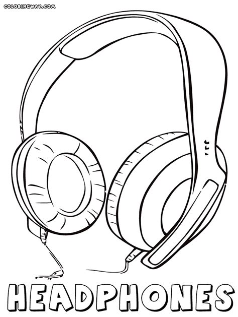 children with microphones coloring pages