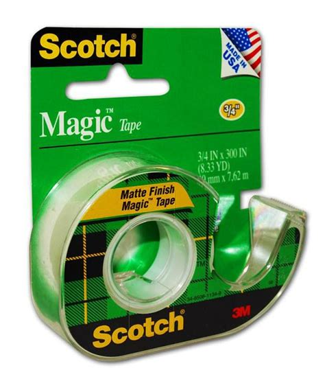 Scotch Magic 3m Scotch Magic 3m scotch magic dispenser with 12mm x 4m