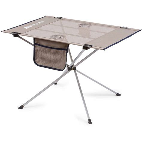 compact portable table portable cing gray ozark trail large compact high