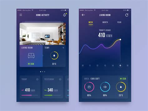 home design app add friends smart home ui by daniel klopper dribbble