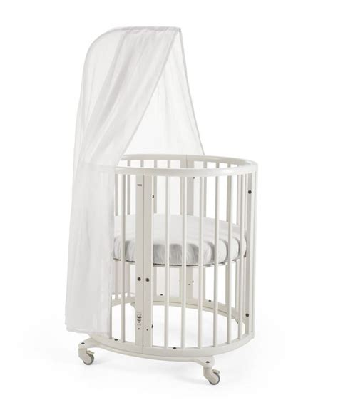 Mini Crib With Wheels Stokke 174 Sleepi Mini Crib In White With Canopy Rod The Bed Creates A Small Footprint In Your