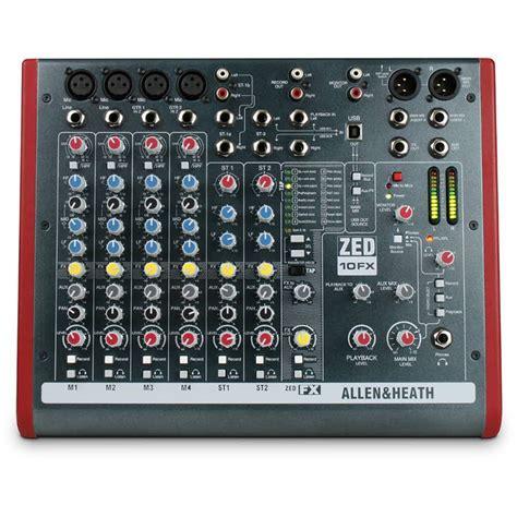 Mixer Allen Heath Zed 10fx allen and heath zed 10fx mixer with fx rich tone