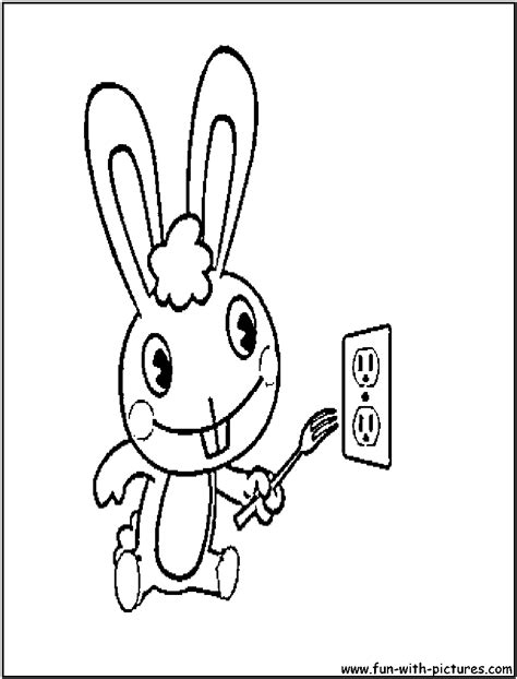 Happy Tree Friends Coloring Pages cuddles happytreefriends coloring page