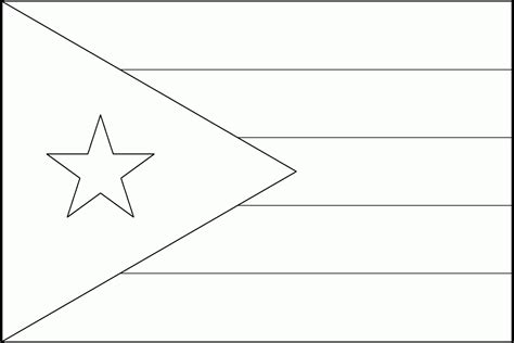 puerto rico flag coloring page coloring home