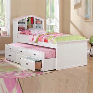 White Trundle Bed For Girls » Home Design 2017