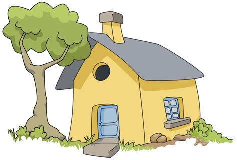 little house of art free cute little house with tree clip art
