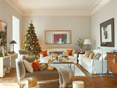 holiday home interiors modern spanish house decorated for christmas digsdigs