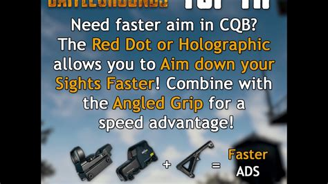 pubg ads pubg top tip 39 use a red dot holographic angled