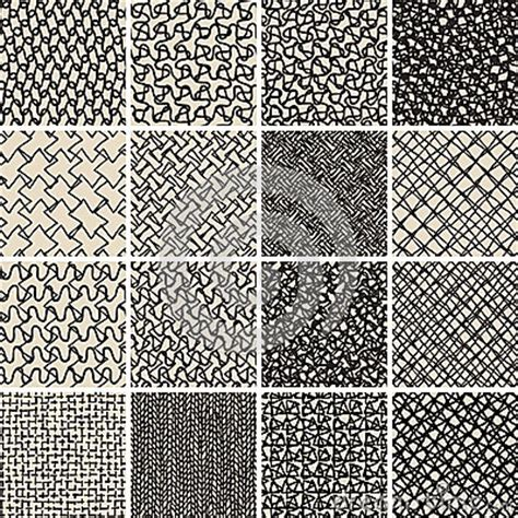 pattern design basics basic doodle seamless pattern set no 8 in black and white