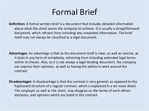 Written Briefformat Brief Formal Images