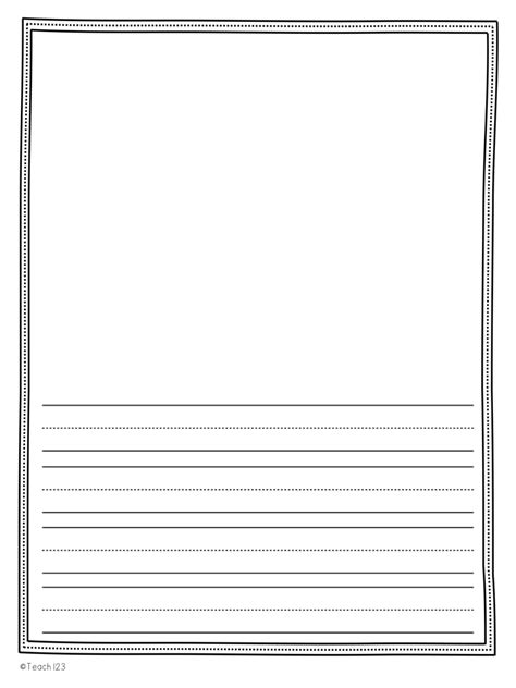 printable narrative writing paper free color your writing teach123