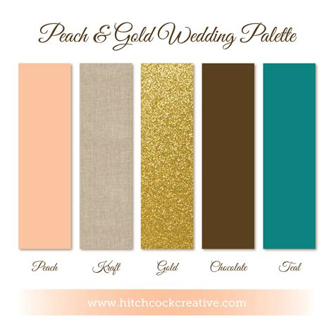 what color compliments brown gold wedding inspiration hitchcock creative