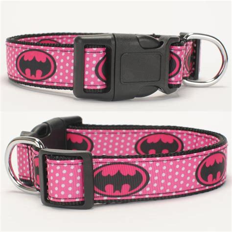 Top Collar 1 new 1 quot 25mm pink bat avenger pattern printed collar 1