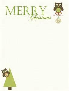 Cute christmas owl free printable stationary and gift tags