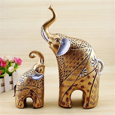 elephant statue animal ornaments home decor living room