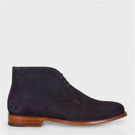 mens navy suede desert boots paul smith s navy suede desert boots in blue