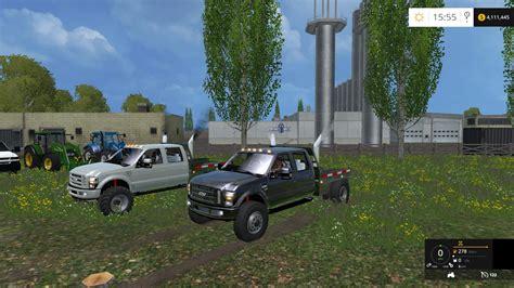 cummins pickup bed log truck for fs15 farming simulator ford f 350 diesel pack revision v1 0 for fs 15 farming