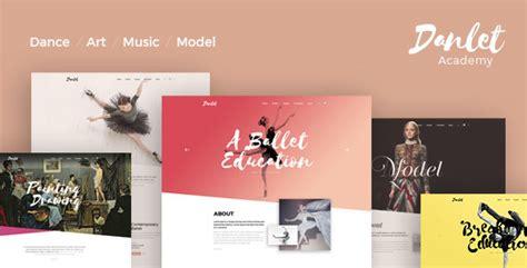 education theme dance danlet academy wordpress theme art education by