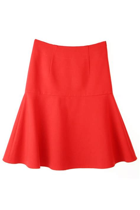 romwe high waisted flared skirt the