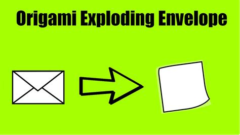How To Make A Origami Exploding Envelope - tutorial origami exploding envelope