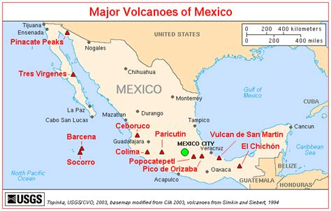 volcanoes in california map volcanoes in mexico baja california