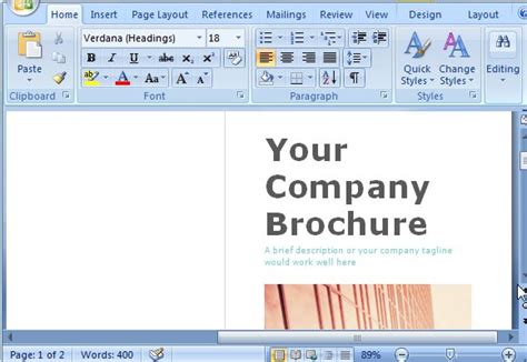 microsoft word 2007 brochure template free brochure maker template for ms word