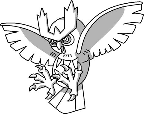 noctowl pokemon coloring pages noctowl outline by mothergarchomp622 on deviantart