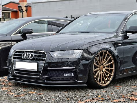 Audi B8 8k by Audi A4 B8 8k Facelift S Line Intenso Front Bumper Extension