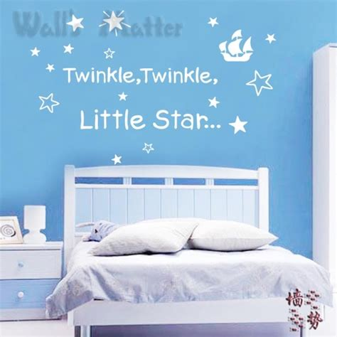 twinkle twinkle wall stickers twinkle twinkle baby sleeping quotes removable vinyl nursery wall stickers free