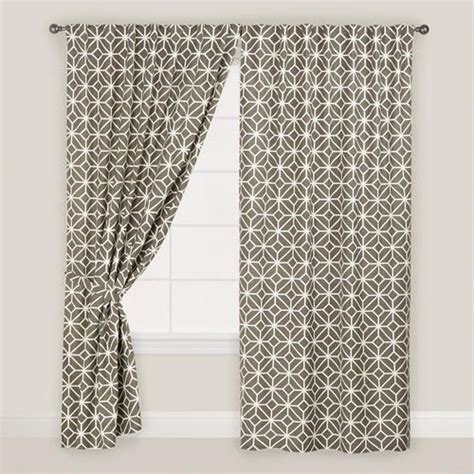 gray and white geometric curtains one of my favorite discoveries at worldmarket com gray
