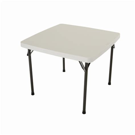 Square Card Table by Lifetime 6 Ft White Granite Fold In Half Table 25011