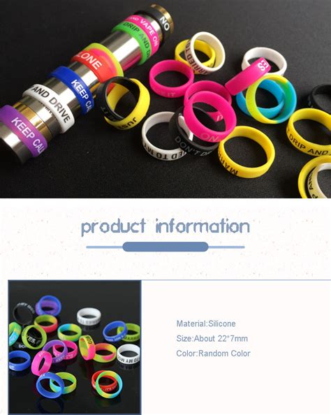 Ruber Ring Propeller Protactor 10 Pcs 10 pcs assorted vape band silicone rings color protection rubber ring 489348021876 ebay