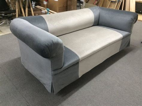 very deep sofa long deep and very comfortable luxe sofa in two tone blue