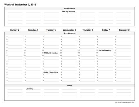 customize calendar template custom weekly for acrobat reader pdf
