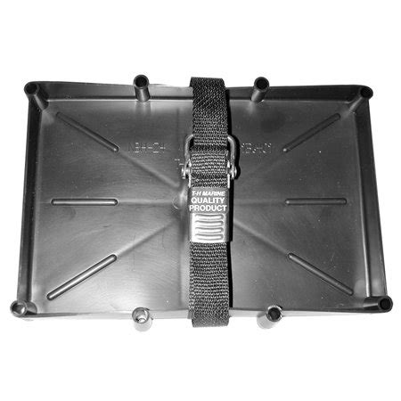 boat battery buckle t h marine nbh 27 ssc dp battery holder tray with