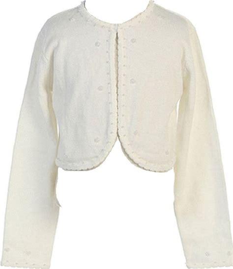 Gamis Cotton Bolero beaded knit cotton bolero shrug sweater ivory