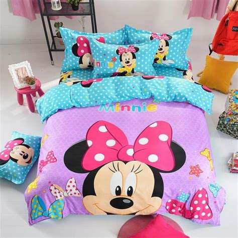 mickey and minnie bedding set minnie mouse pattern bedding set