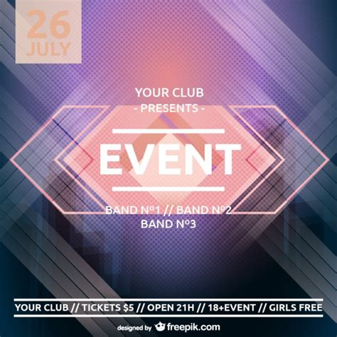 background event design psd party poster retro design vector free download