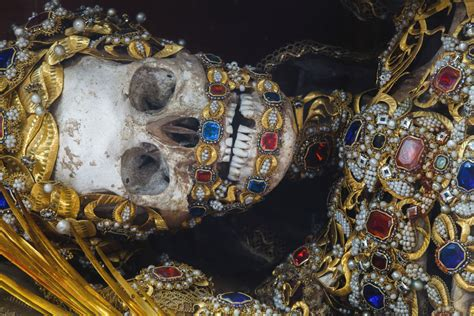 skeletons come out and places from drilling rest in style medieval blinged out skeletons used as