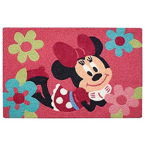 minnie mouse bathroom rug disney 174 minnie mouse rug bed bath beyond