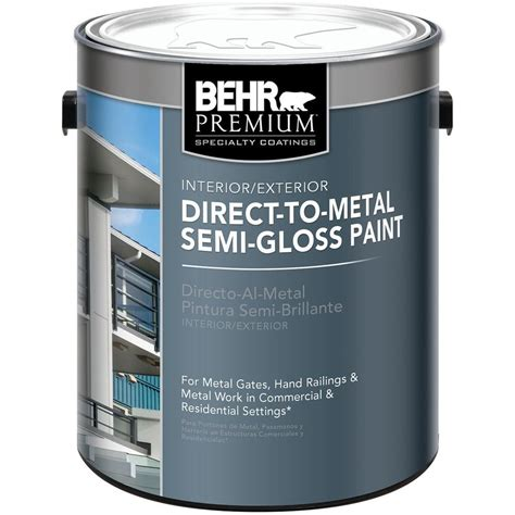 behr 1 gal black direct to metal semi gloss interior exterior paint 322001 on popscreen