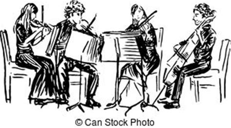 sketchbook quartett string quartet clip and stock illustrations 89 string