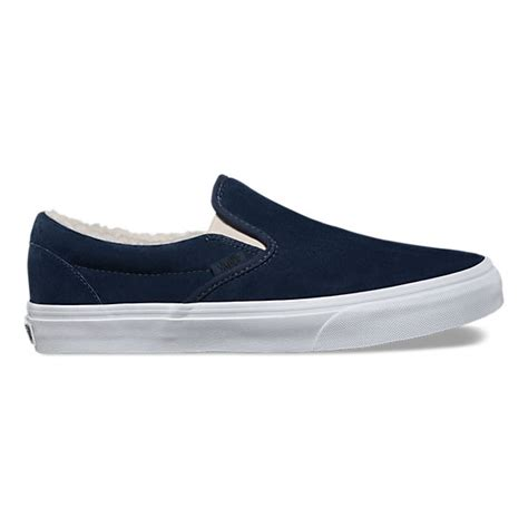 Fleece Slip Ons suede fleece slip on vans ca store