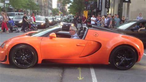 orange convertible bugatti veyron grand sport vitesse