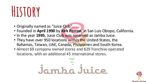 Ucla Mba Total Cost by Jamba Juice Pptx