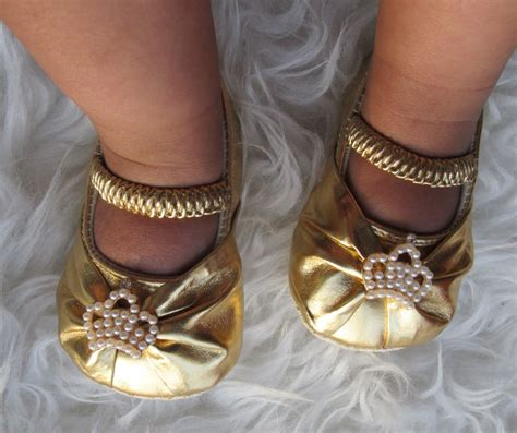 gold crib shoes baby gold crib shoes crown by thebabybellaboutique on
